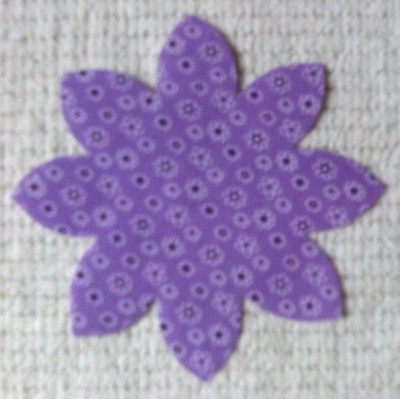 Lilac Ditsy Flowers Poly Cotton Flower Applique Small