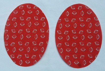 11 Rust Fan Motif Elbow or Knee Patches by Vintage-Patch