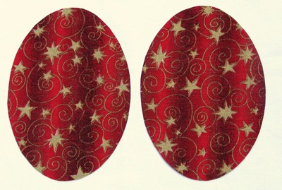 15 Red Stars and Swirls Elbow or Knee Patches by Vintage-Patch small