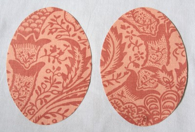 16 Rust Jacquard Print Elbow or Knee Patches by Vintage-Patch Small