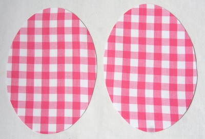 19 Pink Gingham Elbow or Knee Patches by Vintage-Patch Small