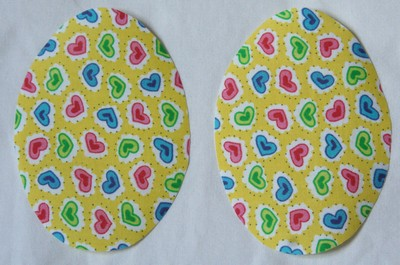28 Yellow Heart Print Elbow or Knee Patches by Vintage-Patch small