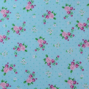 34 Aqua Rosebud Polkadot Square Elbow or Knee Patches by Vintage-Patch small