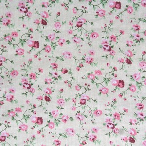 55 Pink Cream Trailing Roses Square Elbow or Knee Patches by Vintage-Patch small