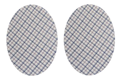 Cream tattersall check Elbow Patches small by Vintage Patch