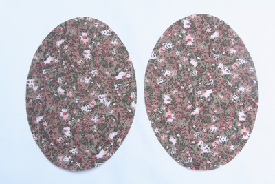 Fawn and Pink Floral Elbow Patches by Vinrtage-Patch small