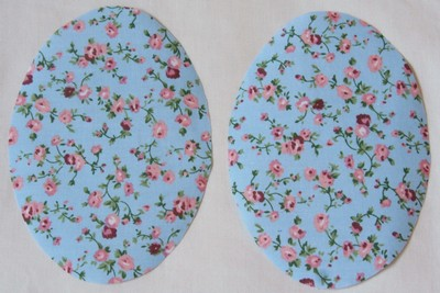 Light Blue Trailing Rose Print Elbow Patch by Vintage-Patch small