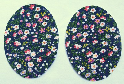 Navy floral elbow patches by Vintage-Patch small