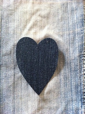 Vintage-Patch Heart Jeans small small