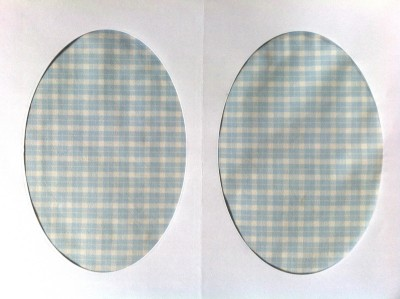 Vintage-Patch Light Blue and White Check Elbow Knee Patches