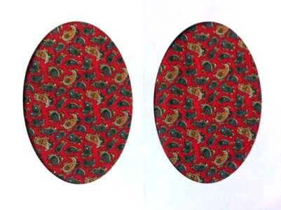 Vintage-Patch Red Paisley Elbow Knee Patches Small