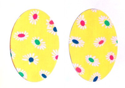 Vintage-Patch Yellow Daisies Elbow Knee Patches Small