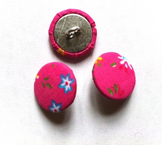 Vintage-Patch Fabric Covered Buttons set of 3