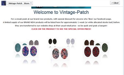 Vintage-Patch Facebook Shopfront June 2013