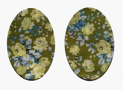 Vintage-Patch Green Tea Rose Elbow Knee Patches Small