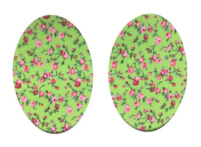 Vintage-Patch Trailing Rose Green Elbow Patches