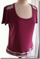 Wine T Shirt After Vintage Patch Refashion