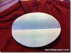 Wine T Shirt Fold Patch Down Centre Vintage Patch Refashion