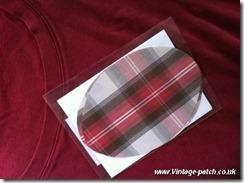 Wine T Shirt Plaid Patchc Vintage Patch Refashion