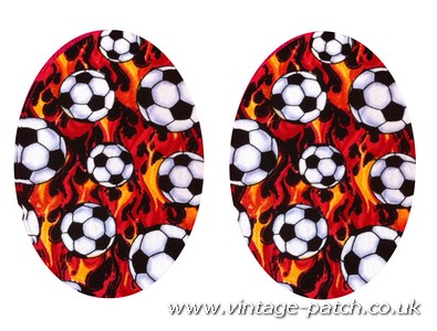 Vintage-Patch Orange Football Print Elbow Knee Patches