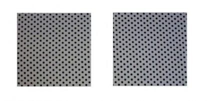 Pair of Iron on Square Shape Elbow or Knee Patches in Grey Black Polkadot Spot pure cotton fabric
