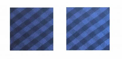 Pair of Iron on Square Shape Elbow or Knee Patches in Blue and Black Gingham pure cotton fabric