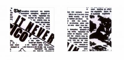 Pair of Iron on Square Shape Elbow or Knee Patches in Black and White Newsprint pure cotton fabric