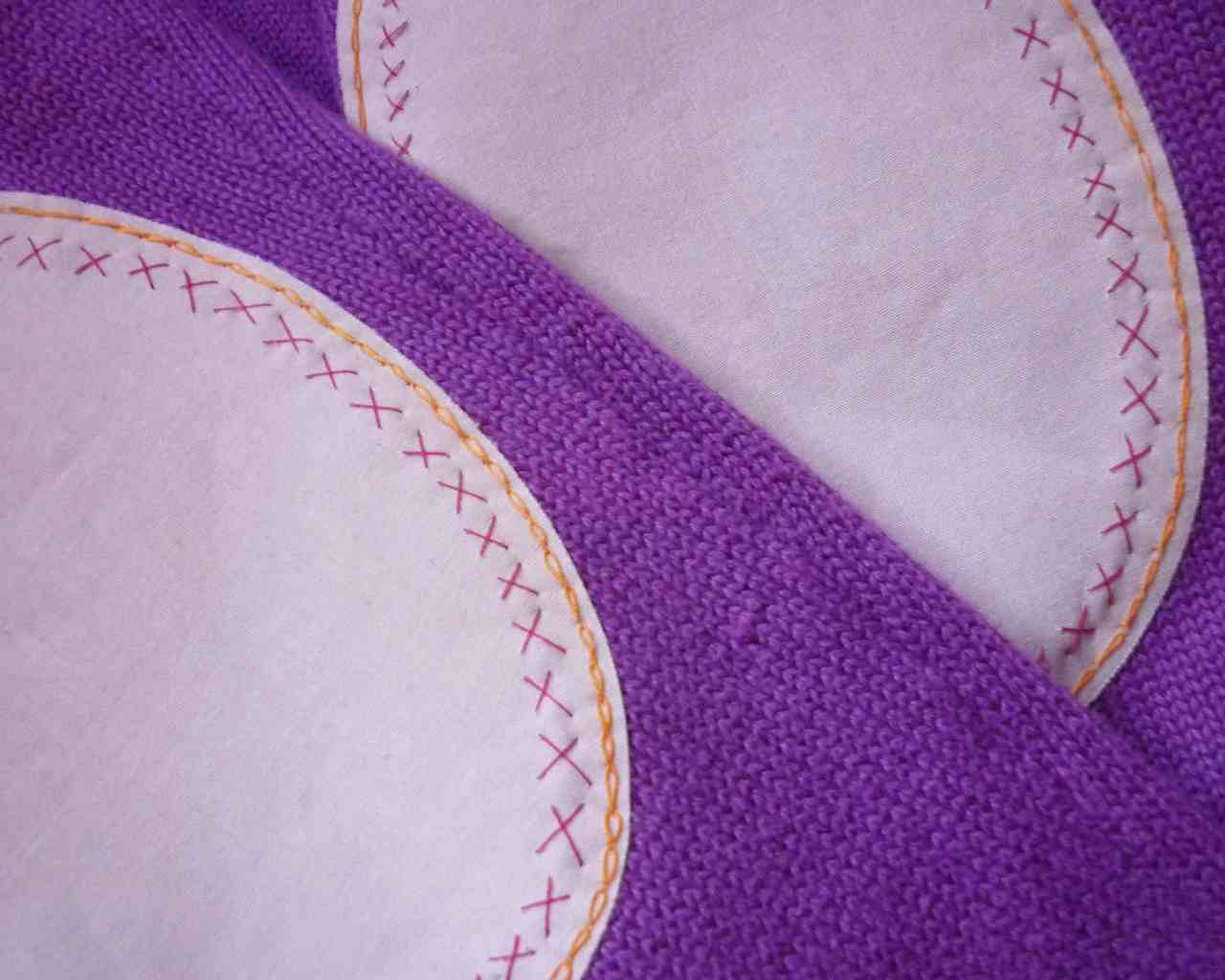 decoratively stitched elbow patches